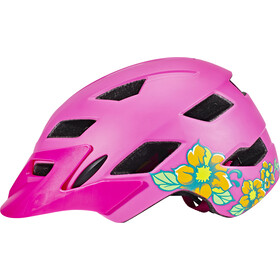 Bell Sidetrack Kask rowerowy Dzieci, matte pink/lime